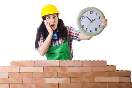 delay: Concept of delay in construction Stock Photo