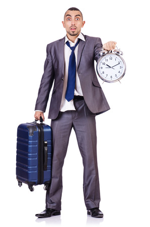 Travel vacation concept with luggage on white Stock Photo - 28858299