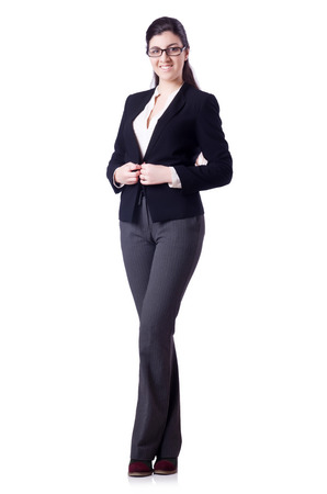 Businesswoman isolated on the white Stock Photo - 29137265