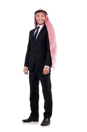 qameez: Arab businessman isolated on white
