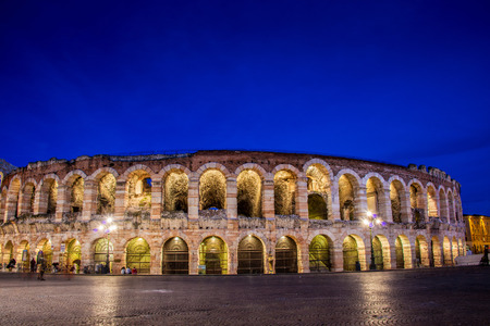 Verona theater during evening hour photo