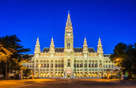 rathaus: Rathaus Mayor office in Vienna, Austria