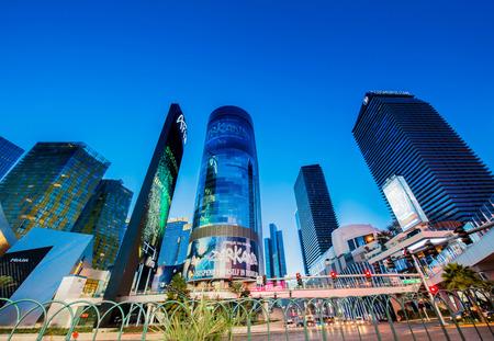 lasvegas: LAS VEGAS - DECEMBER 21: Aria casino on December 21, 2013 in Las Vegas. Aria casino is one of the famous Vegas casinos