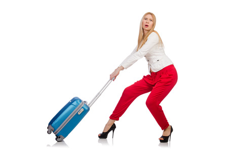 Young woman preparing for summer vacation Stock Photo - 29878555
