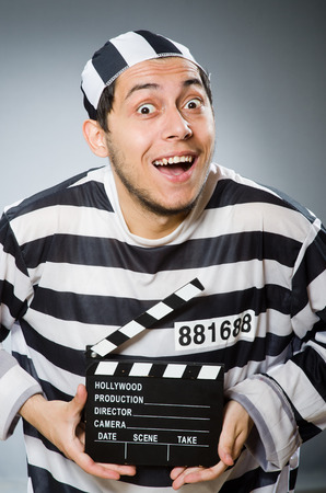 an inmate: Inmate with the movie clapper