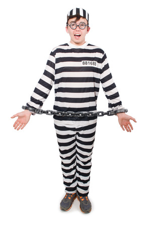 Funny prison inmate in concept Stock Photo - 29911558