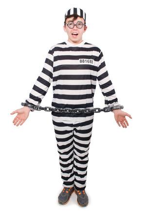Funny prison inmate in concept Stock Photo - 29911558
