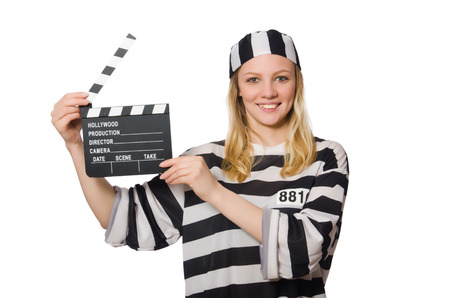 Inmate with the movie clapper photo