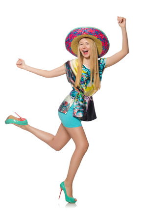 Funny mexican with sombrero hat photo