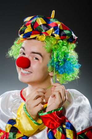 entertainers: Funny clown in humor concept