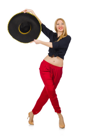Funny mexican with sombrero hat Stock Photo - 30082597