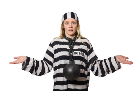 Funny prison inmate in concept photo