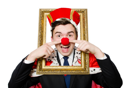 coronation: Funny businessman with clown nose