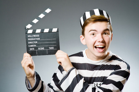 escaping: Funny prison inmate in concept