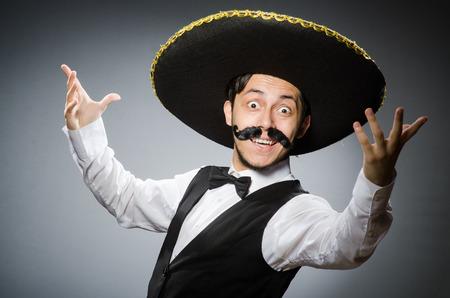 traje mexicano: Mexicano en concepto divertido Foto de archivo