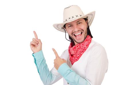 Cowboy isolated on the white background photo