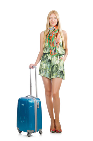 Young woman preparing for summer vacation Stock Photo - 30285814