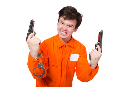 an inmate: Funny prison inmate in concept