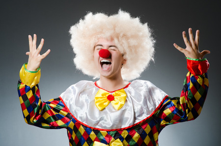 buffoon: Funny clown in the studio