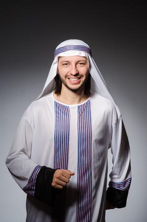 kameez: Arab man in diversity concept