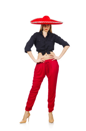 Funny mexican with sombrero hat Stock Photo - 30747938