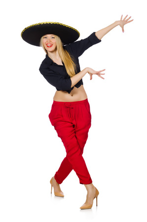 Funny mexican with sombrero hat Stock Photo - 30747960