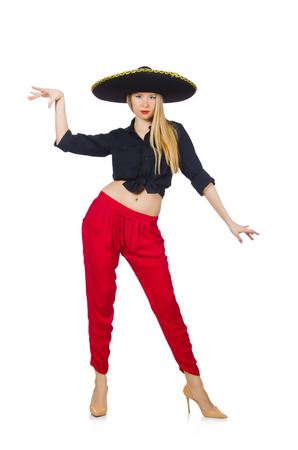 Funny mexican with sombrero hat Stock Photo - 30747964