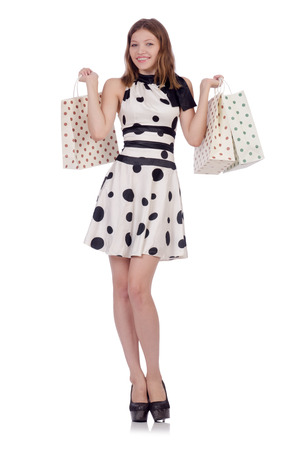 Woman in shopping concept Stock Photo - 30841528