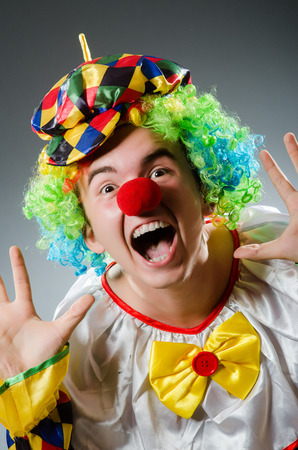 buffoon: Funny clown in humor concept
