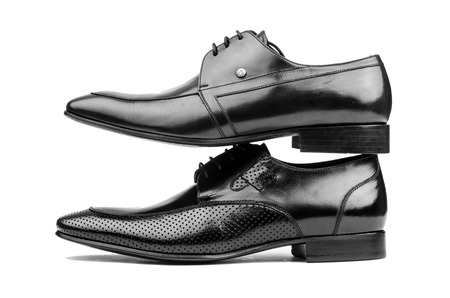 loafers: Pair of male shoes isolated on the white
