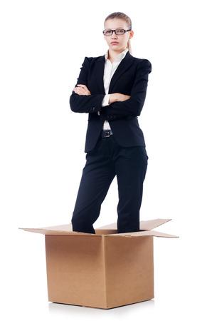 Woman businesswoman isolated on white Stock Photo - 30841693