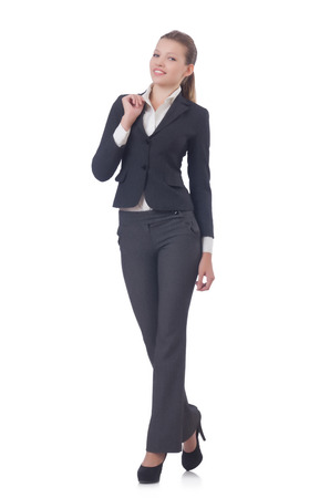 Businesswoman isolated on the white Stock Photo - 30841777