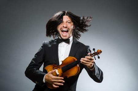 violin player: Man violin player in musican concept
