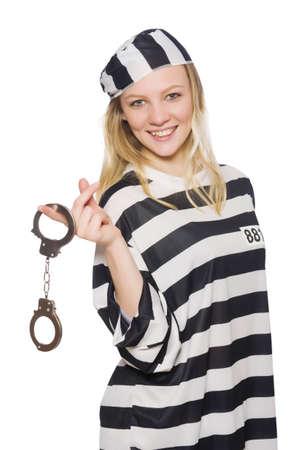 jailbird: Funny prison inmate in concept