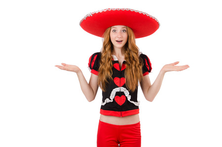 disillusioned: Funny mexican with sombrero in concept