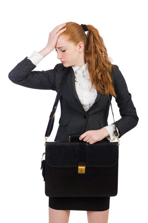 disillusioned: Woman businesswoman in business concept