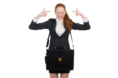 disgruntled: Woman businesswoman in business concept