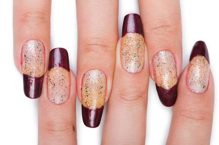 acrylic nails: Fashion concept with nail art