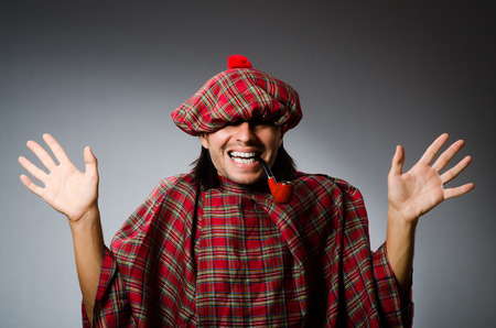 sporran: Funny scotsman in traditional clothing