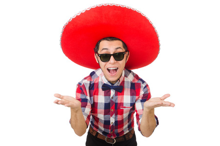 irate: Funny mexican with sombrero in concept