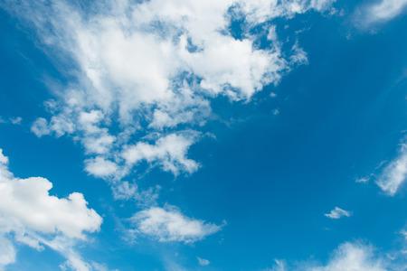Cloudscape of bright blue sky Stock Photo