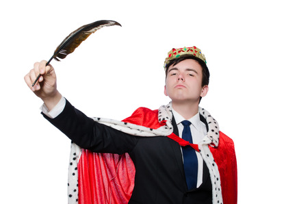 signing authority: Concept of king businessman with crown