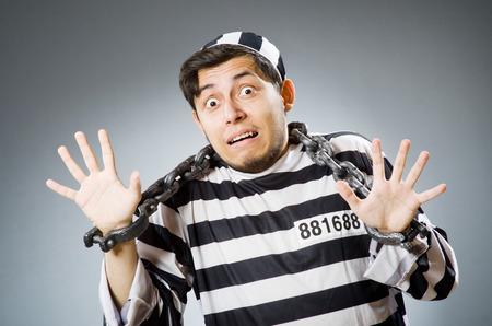 gefangener: Lustige Häftling in Konzept