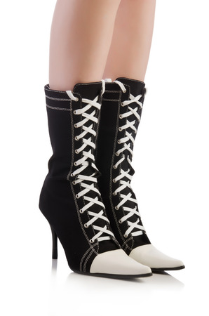 Topboots isolated on the white Stock Photo
