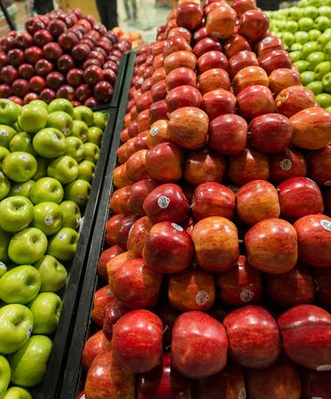 Apple stall in big supermarket