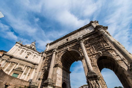Ruins in ancient Roma on summer day Stock Photo