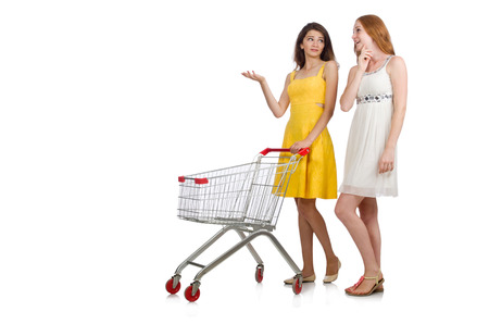 Two female friends during shopping  Stock Photo