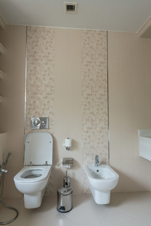 Toilet room in the modern interior photo