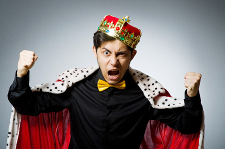 king crown: Concept of king businessman with crown