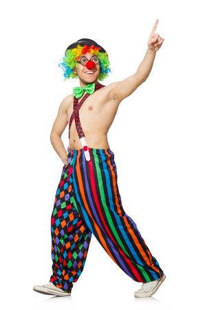 Funny clown isolated on the white background
